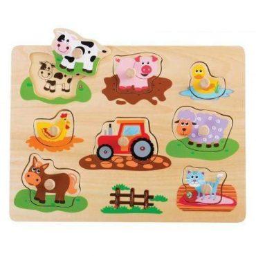 لعبة لغز مزرعة الأصوات Lelin - Farm Peg Puzzle