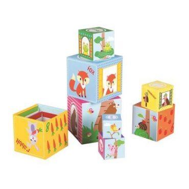 لعبة ترتيب المكعبات التعليمية Lelin - Forest Stacking Cube