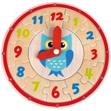 لعبة Lelin - Owl Clock Puzzle