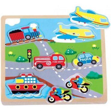لعبة Lelin - Transport Sound Puzzle