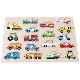 لعبة Lelin - Transports Peg Puzzle - Big Size