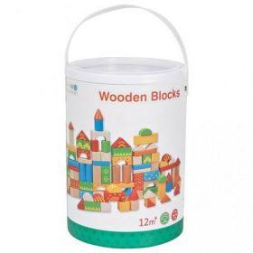 لعبة تركيب الأشكال للأطفال Lelin - Wooden Blocks 100pcs