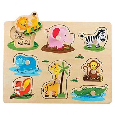 لعبة Lelin - Safari Peg Puzzle