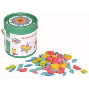 لعبة تركيب Lelin - Wooden Mosaic Blocks 250 pcs