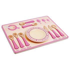 لعبة تقديم الطعام Lelin - Dinner Place Setting - زهري