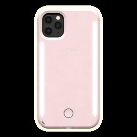 كفر موبايل مع إضاءة أمامية وخلفية Lumee - Duo Case for iPhone 11 Pro - زهري