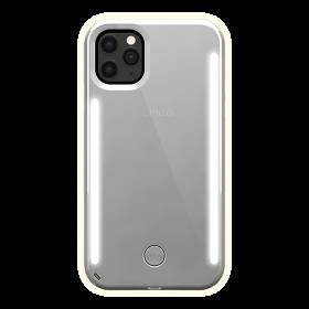 كفر موبايل مع إضاءة أمامية وخلفية Lumee - Duo Case for iPhone 11 Pro Max - مرآة / فضي