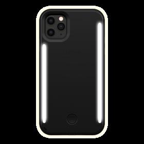كفر موبايل مع إضاءة أمامية وخلفية Lumee - Duo Case for iPhone 11 Pro Max - أسود