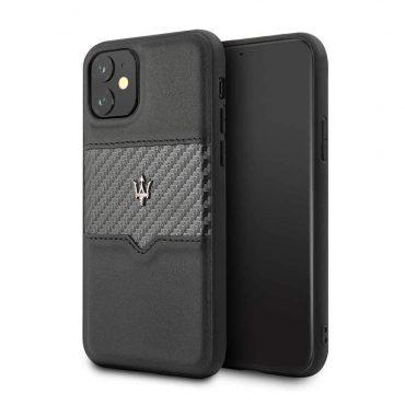 كفر iPhone 11 من Maserati - أسود