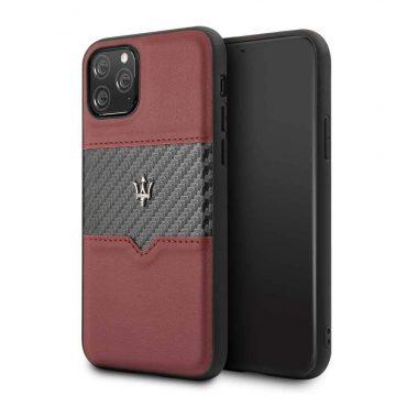 كفر iPhone 11 Pro  من Maserati - عنابي