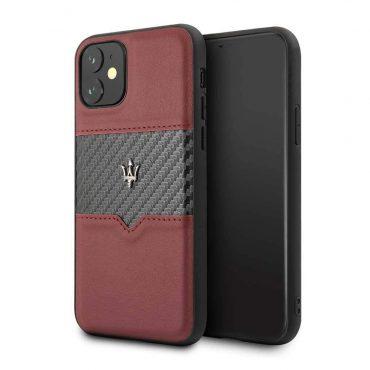 كفر  iPhone 11من Maserati - عنابي