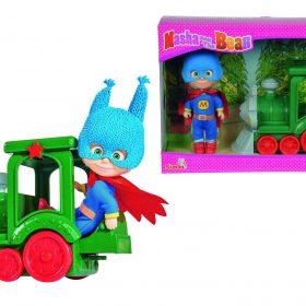 لعبة البطلة ماشا والقطار SIMBA - Masha Superhero with Train
