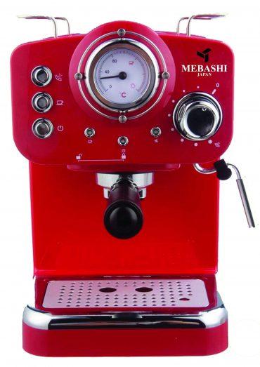 ماكينة قهوة MEBASHI - ESPRESSO COFFEE MACHINE-ME-ECM2009 - أحمر