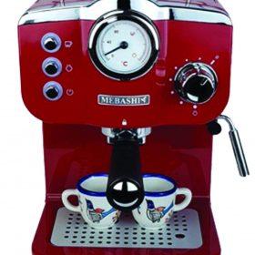 ماكينة قهوة MEBASHI - ESPRESSO COFFEE MACHINE-ME-ECM2015 - أحمر