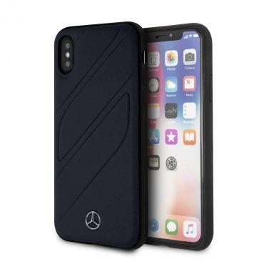 كفر جلدي iPhone X Mercedes-Benz - كحلي