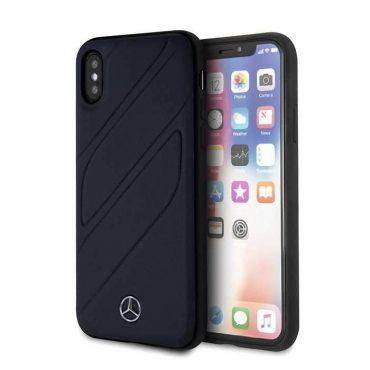كفر جلدي أصلي iPhone X Mercedes-Benz - أسود