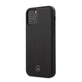 """كفر Mercedes-Benz Wood Case for iPhone 12 / 12 Pro (6.1"""") - Rosewood Brown"""