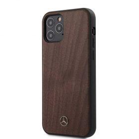 "كفر Mercedes-Benz Wood Case for iPhone 12 Mini (5.4"") - Walnut Brown"
