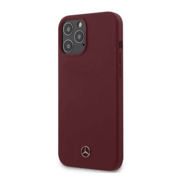 """كفر Mercedes-Benz Liquid Silicone Case with Microfiber Lining for iPhone 12 / 12 Pro (6.1"""") - Classic Red"""