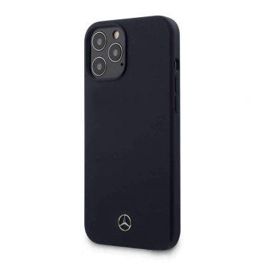 """كفر Mercedes-Benz Liquid Silicone Case with Microfiber Lining for iPhone 12 / 12 Pro (6.1"""") - Abyss Blue"""
