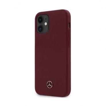 "كفر Mercedes-Benz Liquid Silicone Case with Microfiber Lining for iPhone 12 Mini (5.4"") - Classic Red"