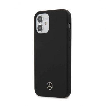 "كفر Mercedes-Benz Liquid Silicone Case with Microfiber Lining for iPhone 12 Mini (5.4"") - Black"
