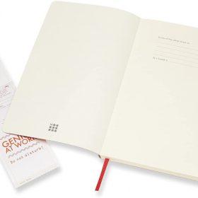 دفتر ملاحظات غير مسطر Moleskine - Classic Plain Paper Notebook - A5 - 192 صفحة / أحمر