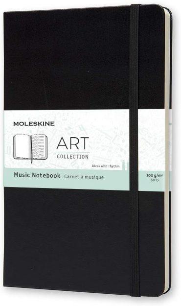 دفتر ملاحظات موسيقية Moleskine - Art Collection Music Notebook - 192 صفحة / أسود