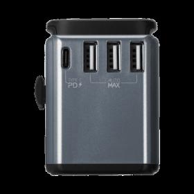 محول AC ADAPTOR 1-PORT USB-C PD2.0+3-PORT USB-A - موماكس