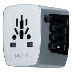 محول WORLD TRAVEL AC ADAPTOR 4-PORT USB-A MOMAX - أسود