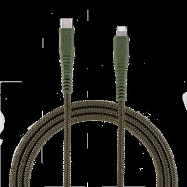 كابل TYPE-C TO LIGHTNING CABLE DURABLE CABLE 1.2M MOMAX - أخضر