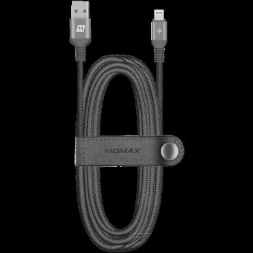 كابل LIGHTNING CABLE TRIPLE BRAIDED 2M MOMAX - أسود