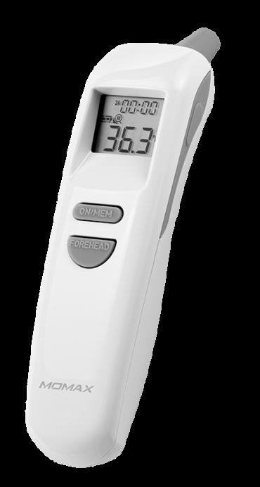 مقياس حرارة MULTI-FUNCTION INFRARED THERMOMETER MOMAX - أبيض