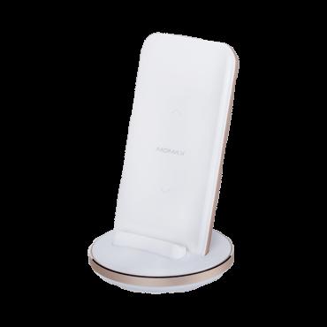 باور بانك لاسلكي Q.POWER PRO WIRELESS EXTERNAL BATTERY PACK 8000mAh MOMAX - أبيض