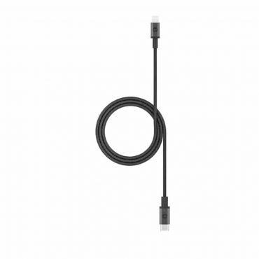كابل 1 متر Mophie USB-C to Lightning Cable - أسود