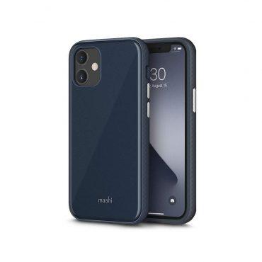 كفر Moshi - iGLAZE Apple iPhone 12 Mini Case - أزرق