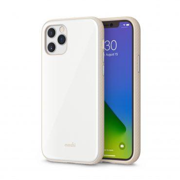 كفر Moshi - iGLAZE Apple iPhone 12 Pro Case - أبيض