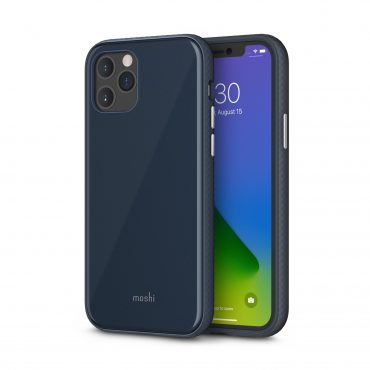 كفر Moshi - iGLAZE Apple iPhone 12 Pro Case - أزرق