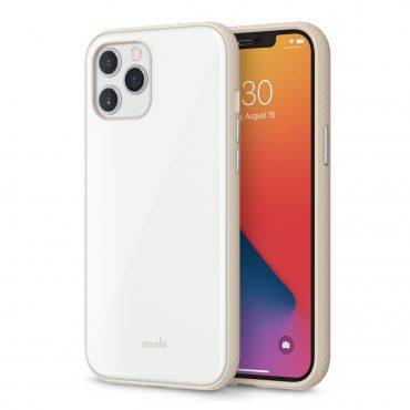 كفر Moshi - iGLAZE Apple iPhone 12 Pro Max Case - أبيض