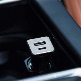 شاحن سيارة USB-C من MOSHI - أسود