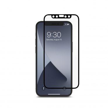 شاشة حماية Moshi - iVisor Anti Glare Apple iPhone 12 Mini Screen Protector - إطار أسود