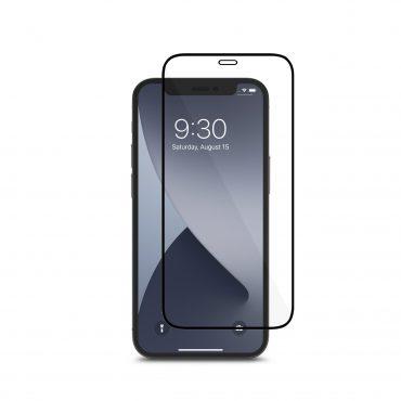شاشة حماية Moshi - AIRFOIL PRO Apple iPhone 12 Mini Screen Protector - إطار أسود