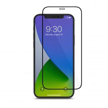شاشة حماية Moshi - AIRFOIL PRO Apple iPhone 12 Pro Screen Protector - إطار أسود