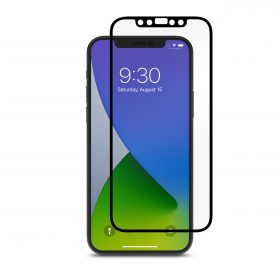 شاشة حماية Moshi - iVisor Anti Glare Apple iPhone 12 Pro Screen Protector - إطار أسود