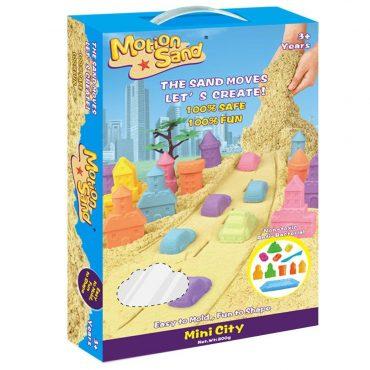 مجموعة المدينة الصغيرة من لعبة صلصال الرمل السحري 1KG Mini City - Motion Sand