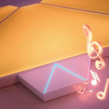 قطعة التحكم الموسيقي لأالواح الإضاءة من (نانوليف) - دع الموسيقى ترسم لوحتك الفنية