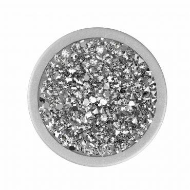 مسكة موبايل Nuckees Stand and Grip - Silver Diamond Cluster