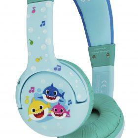 سماعات رأس سلكية OTL Baby Shark OnEar Wired Headphone  - أزرق