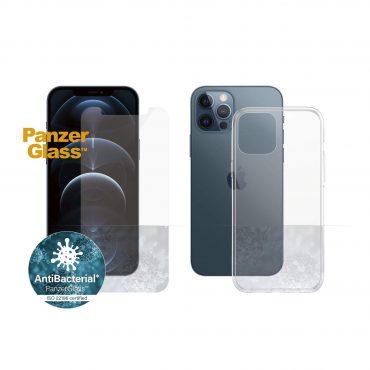 كفر وشاشة حماية PanzerGlass - iPhone 12 Pro Max ClearCase + Screen Protector - Bundle