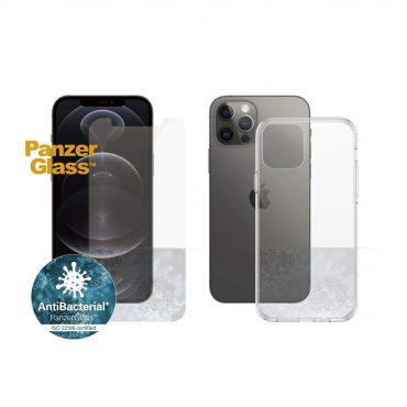 كفر وشاشة حماية PanzerGlass - iPhone 12 Pro ClearCase - Bundle